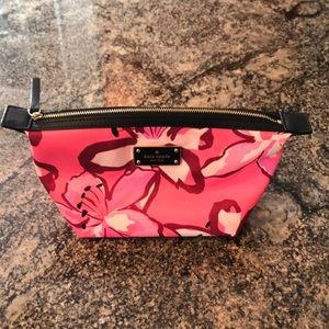 Kate spade New York pink floral make up bag